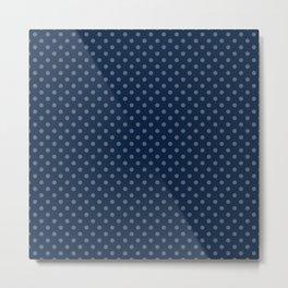 Dark blue background with polka dots Metal Print