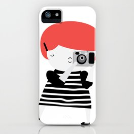 The ginger photographer iPhone Case