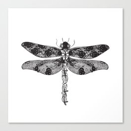 Lace dragonfly Canvas Print