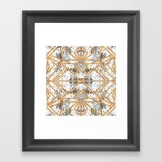 Marble Deco Shade One; Framed Art Print