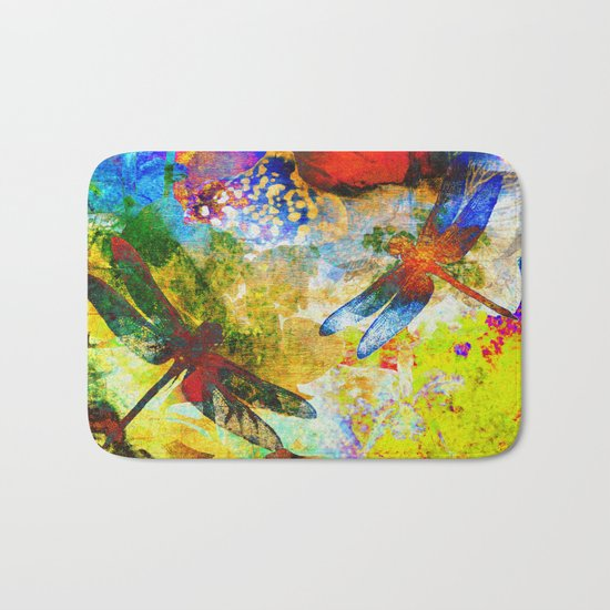 Silk Dragonflies QQ Bath Mat