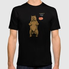 KitKat Bear Black Mens Fitted Tee LARGE