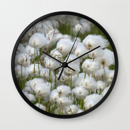 Cotton grass Wall Clock