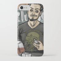 tony stark iPhone & iPod Cases featuring Tony Stark, Billionaire by Brizy Eckert