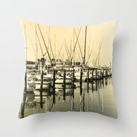 nautical Throw Pillows featuring Nautical  by Devin Stout
