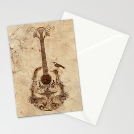 The Guitar's Song Stationery Cards