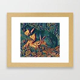 Doberman art Framed Art Print