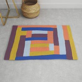 Painted color blocks Rug