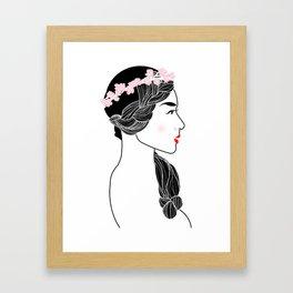 Cherry Blossom Girl. Framed Art Print