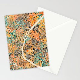 Paris mosaic map #2 Stationery Cards