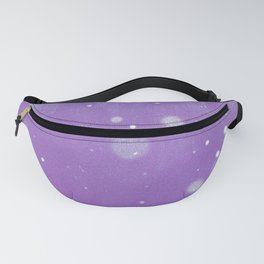 Vintage snow and purple sky Fanny Pack