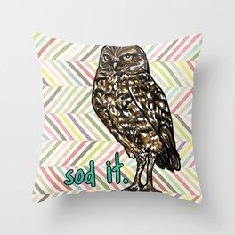 Sod It Owl- Sassy Bird Throw Pillow