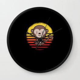Cute Monkey Monkey Wall Clock