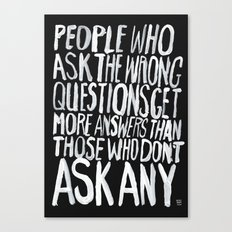 ANSWERS Canvas Print