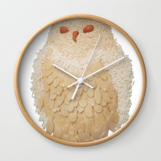 Owl Collage #4 Wall Clock