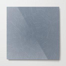 Light Slate Gray Marks Metal Print