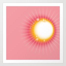 Pink & yellow tie & dye Art Print