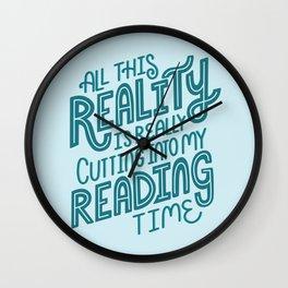 Reality Vs. Reading Blue Wall Clock