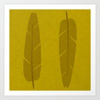 banana leaf Art Prints featuring Banana Leaf Yellow by Endless Summer
