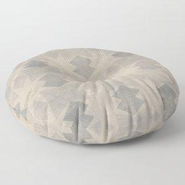 Geometric seamless pattern design on a grunge texture Floor Pillow