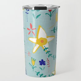 Floral The Tortoise and the Hare is one of Aesop Fables green Travel Mug