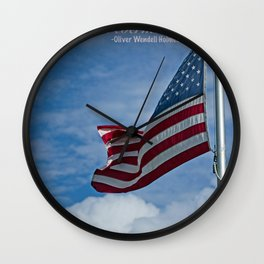 One flag, one land, one heart, one hand... Wall Clock