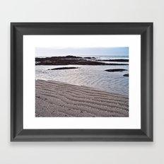 Sandy Ripples By the Sea Framed Art Print