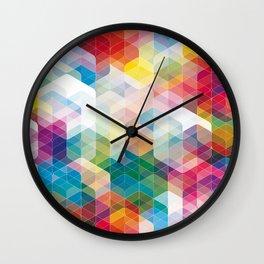 Cuben Curved #3 Geometric Art Print. Wall Clock