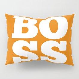 Boss - Orange and White Pillow Sham