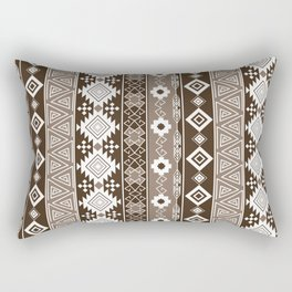 Colorful Aztec pattern with brown. Rectangular Pillow