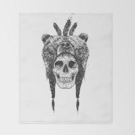 Dead shaman (b&w) Throw Blanket