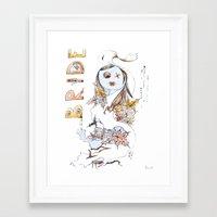 bride Framed Art Prints featuring Bride by VicFreyd