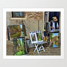 Venetian Artist Art Print