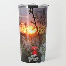 Spring Blossoms Sunset Travel Mug