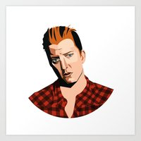 queens of the stone age Art Prints featuring Josh Homme, Queens of the Stone Age, Vecto by Morgane Dagorne