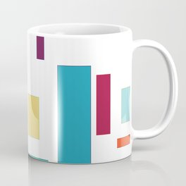 Rectangles and Squares on White Coffee Mug