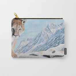 Mountain Lion in the Rockies Carry-All Pouch