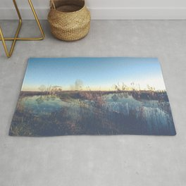 A river landscape (double exposure) Rug