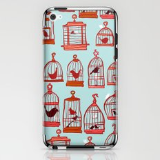 Bird Cages on Blue iPhone & iPod Skin