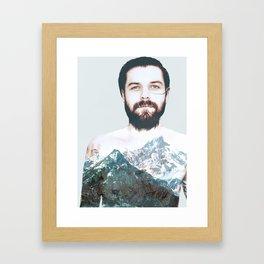 Simon Neil Mountains Framed Art Print