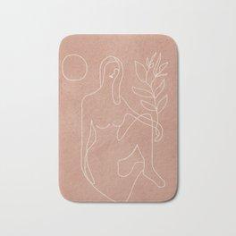Engraved Nude Line II Bath Mat