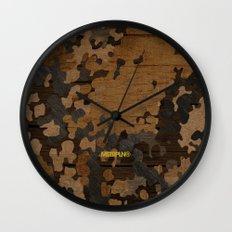 Modern Woodgrain Camouflage / Flecktarn Print Wall Clock