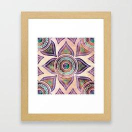 Beautiful Translucent Yin yang symbol pastel Framed Art Print