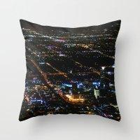 oklahoma Throw Pillows featuring Oklahoma City by Nadege Torrentgeneros