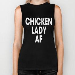 Chicken Lady AF (dark) Biker Tank