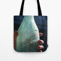 coca cola Tote Bags featuring Coca-Cola by The Newsie