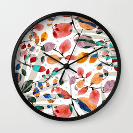 Plants abstratc Wall Clock