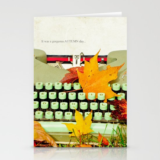 It Was a Gorgeous Autumn Day Stationery Cards