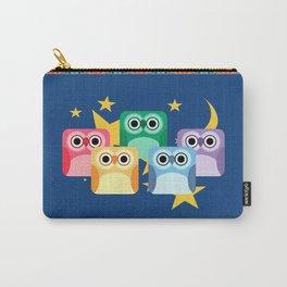 Hooty Rainbow of Owls Carry-All Pouch