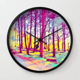 Let's Take Our Hearts For A Walk In The Woods and Listen to the Magic Whispers of Old Trees... Wall Clock